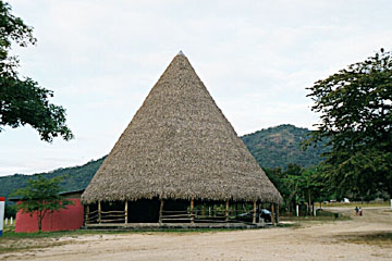 Traditional indigenous Costa Rican tipi