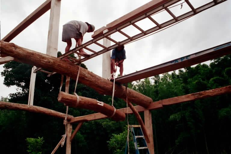 Fox Maple Kauai 2002 Timber Framing Workshop